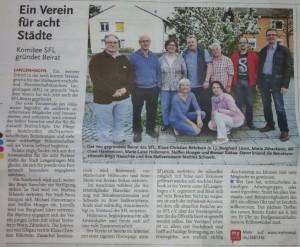 HAZ-Artikel Gründung Beirat SFLev